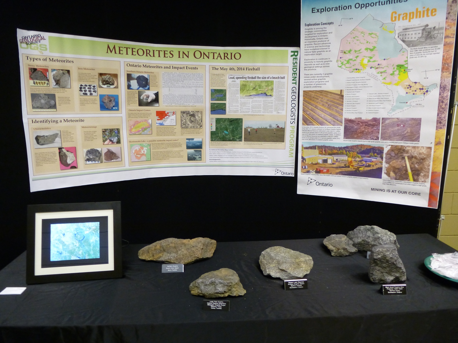 Meteorites in Ontario Display